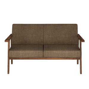 Alena  Sofa 2 Seater in Brown Solid Wood Finish