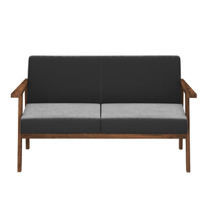 Alena  Sofa 2 Seater in Gray Solid Wood Finish