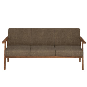 Alena  Sofa 3 Seater in Brown Solid Wood Finish