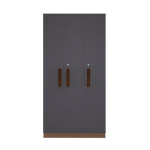 Slim Three Door Wardrobe (Only Shelves)