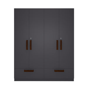 Four Door Wardrobe (Drawers And Shelves )