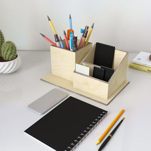 Esta Wooden Pen Stand and Card Holder