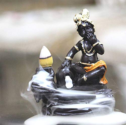 Eco-Friendly Smoke Fountain Krishna/Eco-Friendly Lord Krishna/Love Radha Krishna/with 10 Incense Cones/Sky Gift/Home