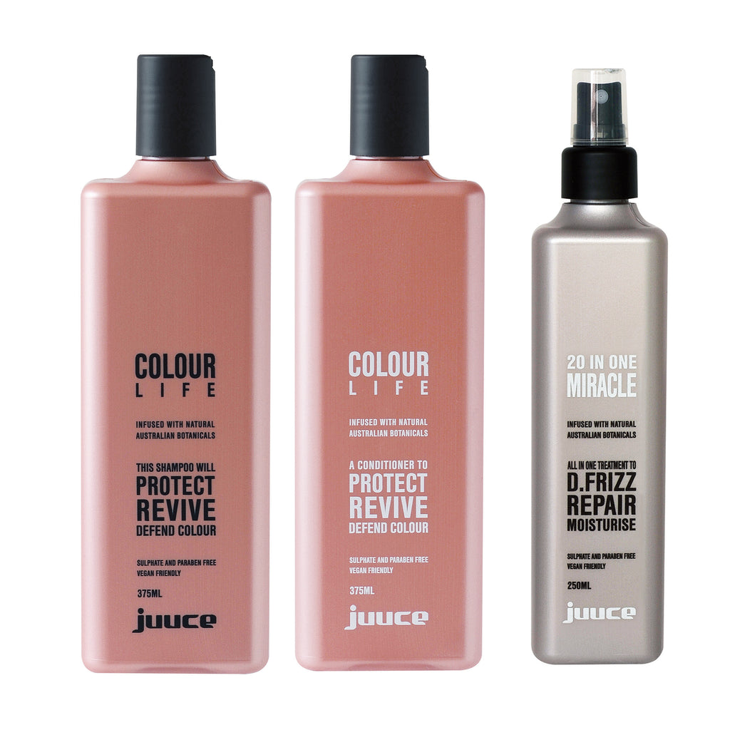 Juuce Colour Life Shampoo Conditioner and 20 in 1 Miracle Spray