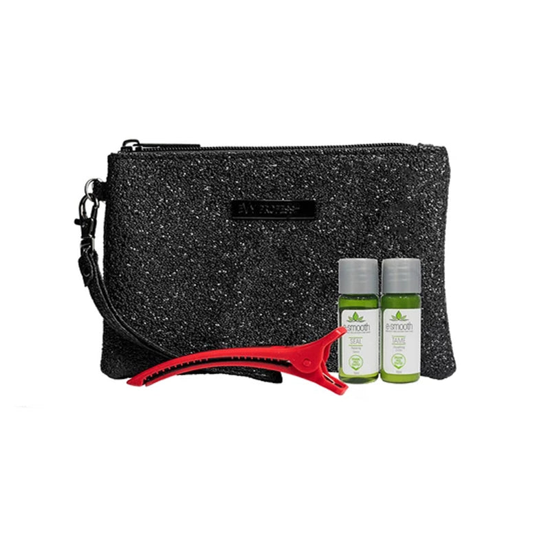 Evy purse with e-smooth Tame and Seal 10ml plus e-clip - Haircare Superstore