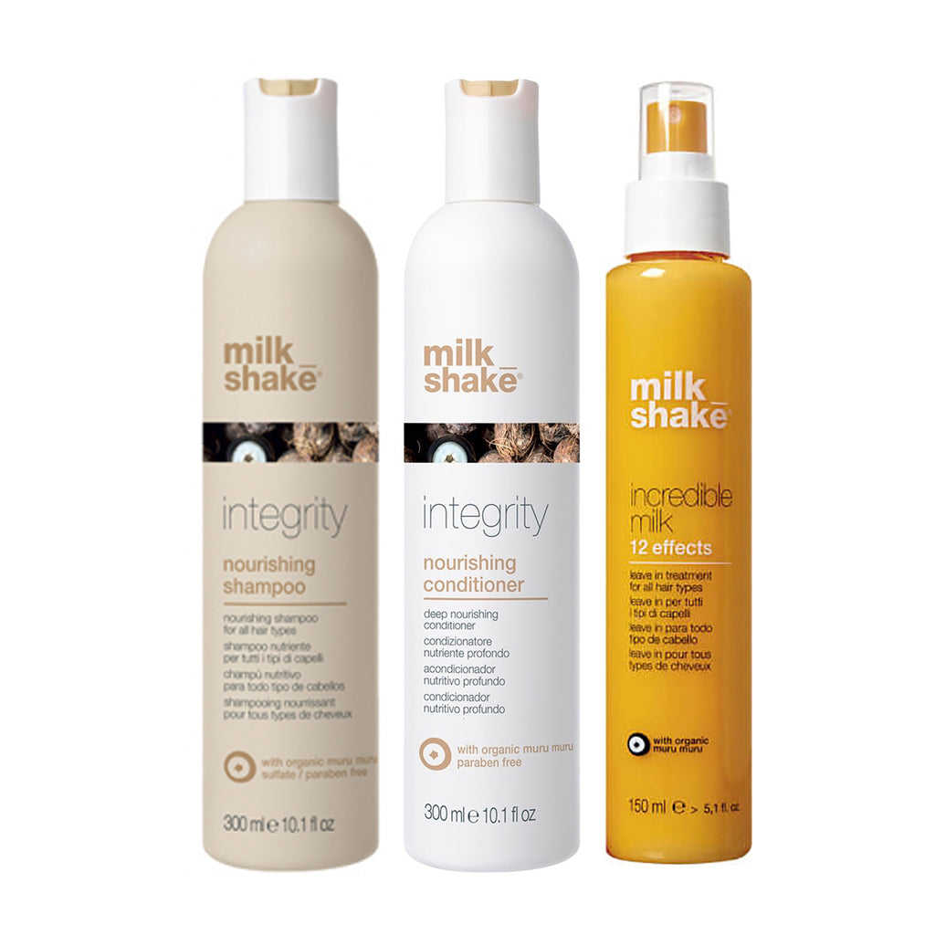 milk shake Integrity Nourish Trio with 12 Effects Incredible Milk - Haircare Superstore