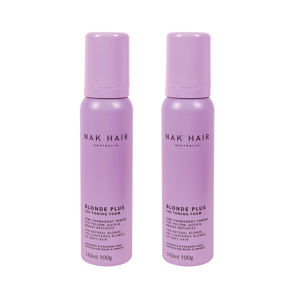 Nak Blonde Plus 10V Toning Foam 2 Pack - Haircare Superstore