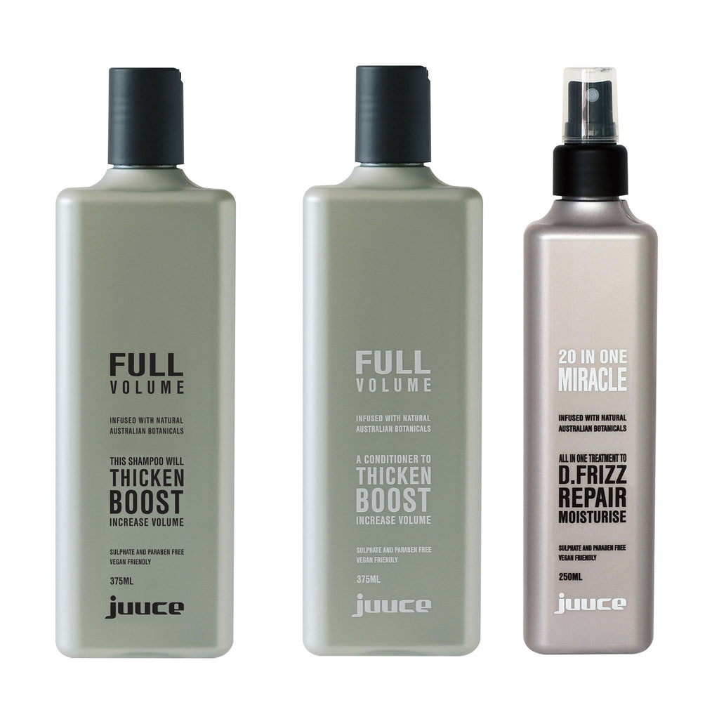 Juuce Full Volume Shampoo Conditioner and 20 in 1 Miracle Spray
