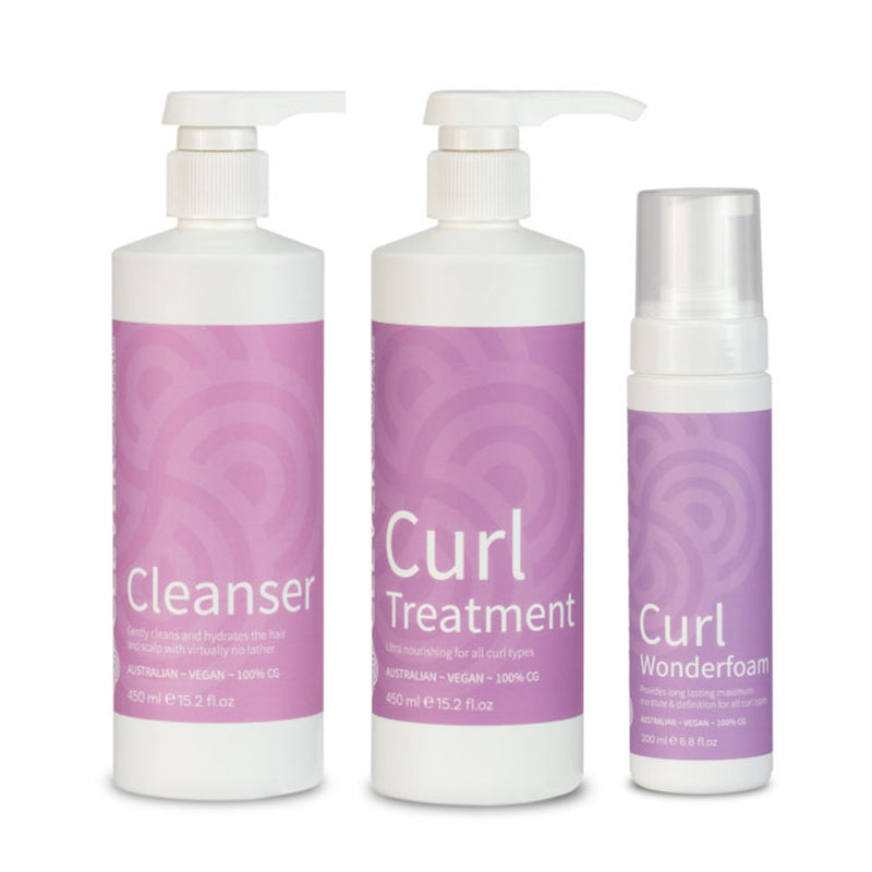 Clever Curl Cleanser, Treatment and Wonder Foam Trio - Haircare Superstore