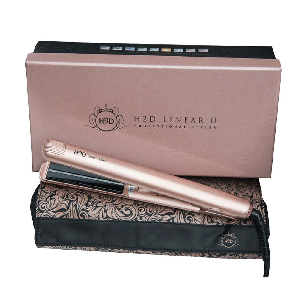 H2D Linear II Rose Gold Hair Straightener - Haircare Superstore