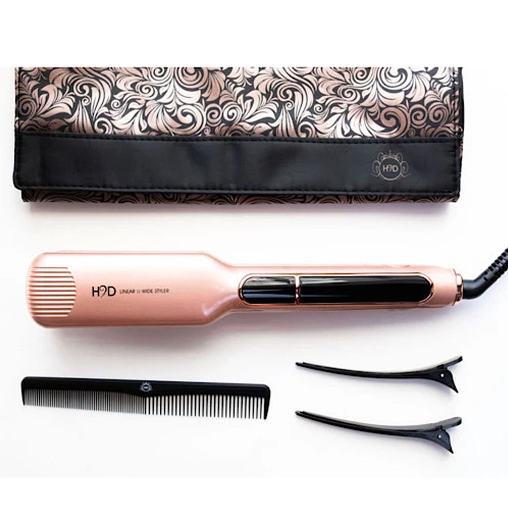 H2D Linear II Wide Styler Rose Gold Straightener - Haircare Superstore