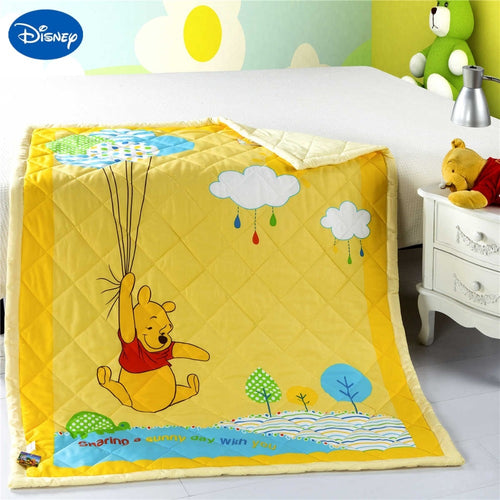 NEW Yellow Winnie the Pooh Baby Quilt