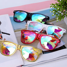Load image into Gallery viewer, Wayfarer Kaleidoscope Rave Glasses