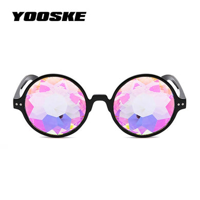 Retro Kaleidoscope Rave Glasses