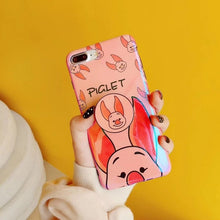 Load image into Gallery viewer, Cute Winnie Pooh & Piglet iPhone Case with Holder Ring