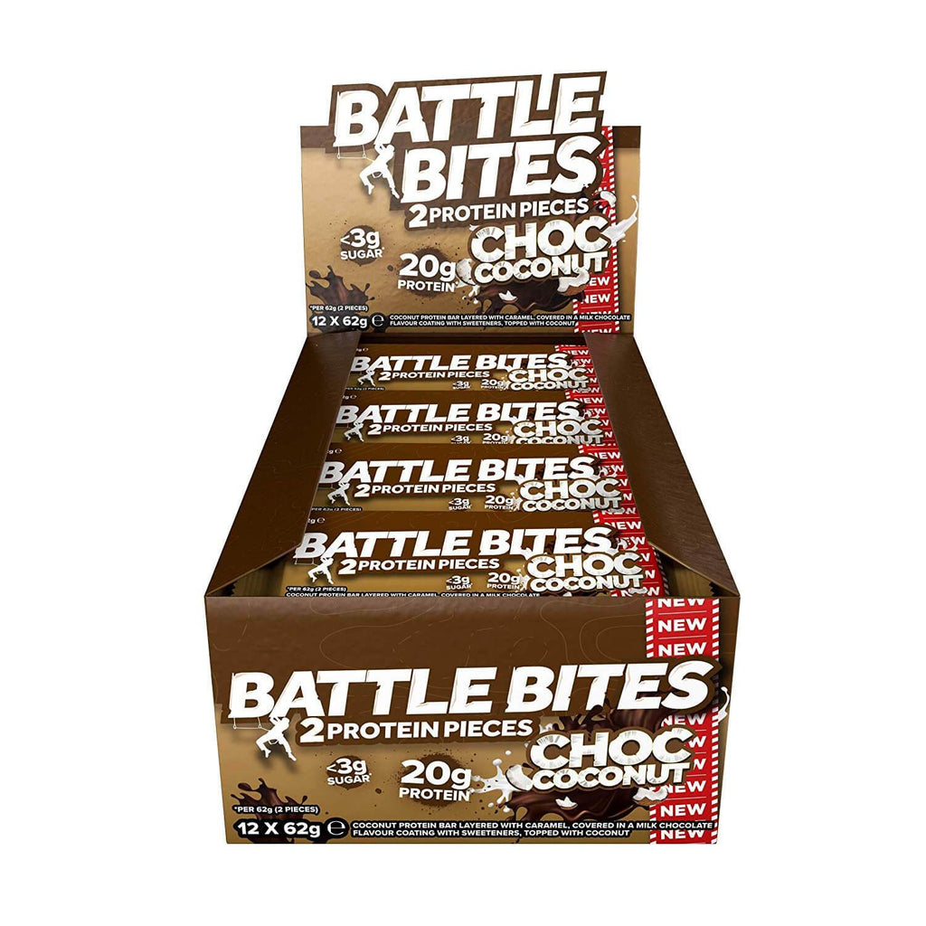 battle bites protein bar chocolate coconut flavour
