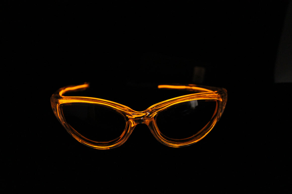 Orange Light Up El Wire Sunglasses