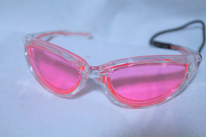 Pink light up El Wire sunglasses