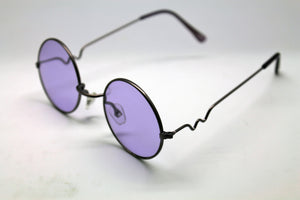 Lennon Style Sunglasses with Purple Lenses Purple Frames