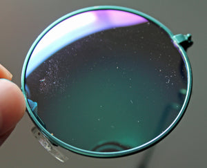 Lennon Style Sunglasses with Blue Green Mirror Lenses
