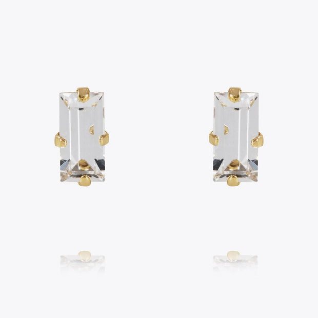 Caroline Svedbom - Baguette Earrings Crystal Gold