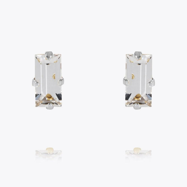 Caroline Svedbom - Baguette Earrings Crystal Rhodium