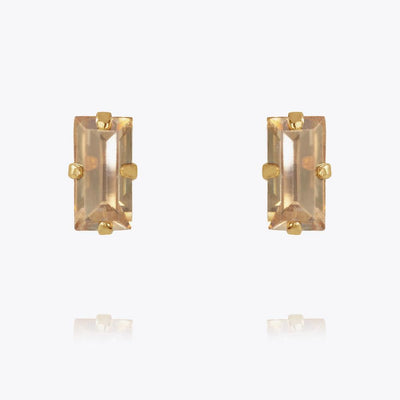 Caroline Svedbom - Baguette Earrings Golden Shadow Gold