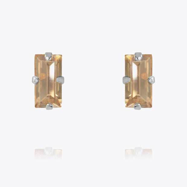 Caroline Svedbom - Baguette Earrings Golden Shadow Rhodium