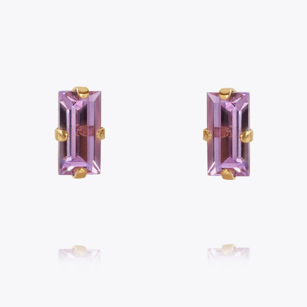Caroline Svedbom - Baguette Earrings Violet Gold