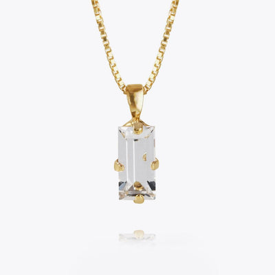 Caroline Svedbom - Baguette Necklace Crystal Gold