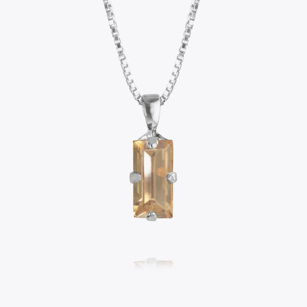 Caroline Svedbom - Baguette Necklace Golden Shadow Rhodium