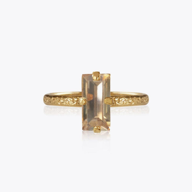Caroline Svedbom - Baguette Ring Golden Shadow Gold