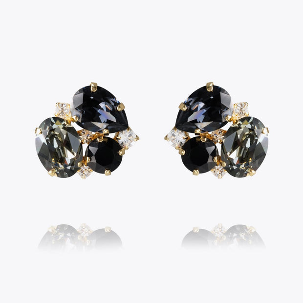 Caroline Svedbom - Carolina Earrings Black Diamond Guld