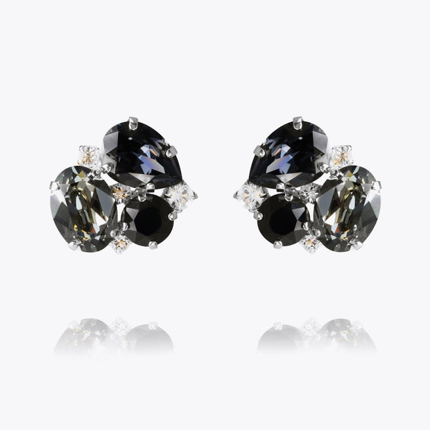 Caroline Svedbom - Carolina Earrings Black Diamond Rhodium