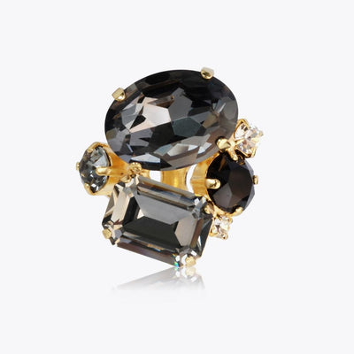 Caroline Svedbom - Carolina Ring Black Diamond Guld