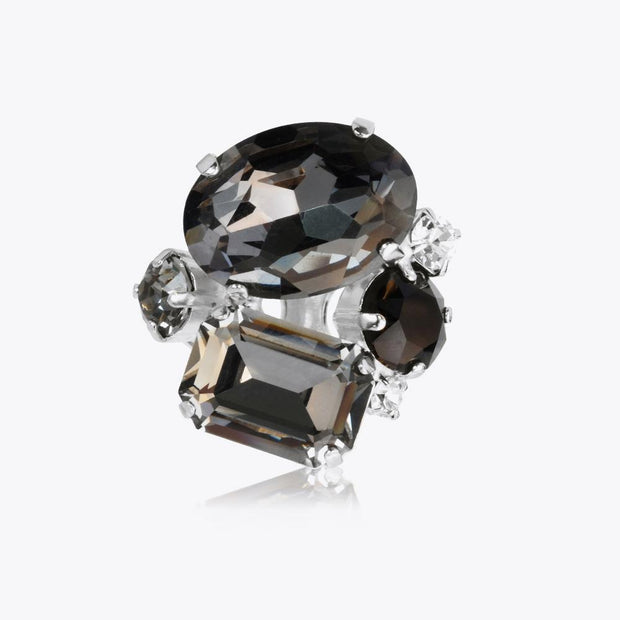 Caroline Svedbom - Carolina Ring Black Diamond Rhodium