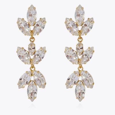 Caroline Svedbom - Tekla Earrings Crystal Gold