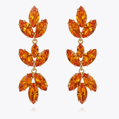 Caroline Svedbom - Tekla Earrings Tangerine Gold