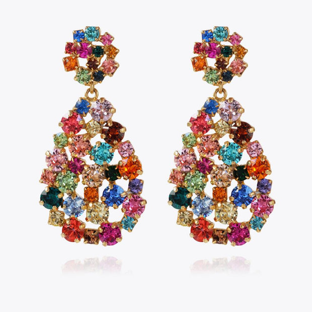Caroline Svedbom - Hanna Earrings Rainbow Combo Gold