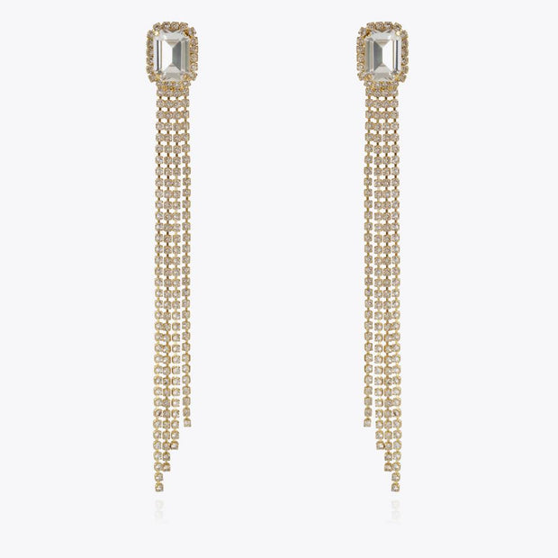 Caroline Svedbom - Ivy Earrings Crystal Gold