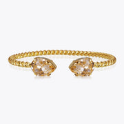 Caroline Svedbom -Mini Drop Bracelet Light Peach Gold