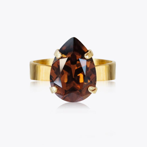 Caroline Svedbom - Mini Drop Ring Smoked Topaz Gold