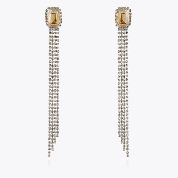 Caroline Svedbom - Ivy Earrings Golden Shadow Rhodium