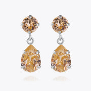 Caroline Svedbom - Mini Drop Earrings Light Peach Rhodium