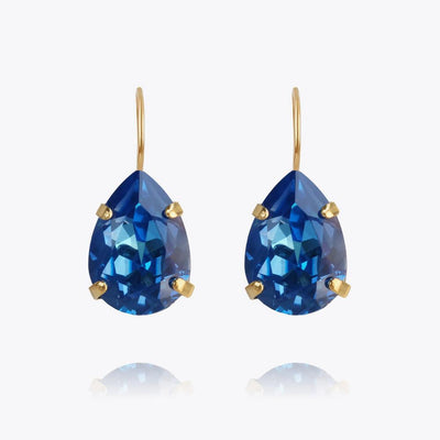 Caroline Svedbom - Mini Drop Clasp Earring Royal Blue Delite Gold