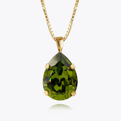 Caroline Svedbom - Classic Drop Necklace Olivine Gold