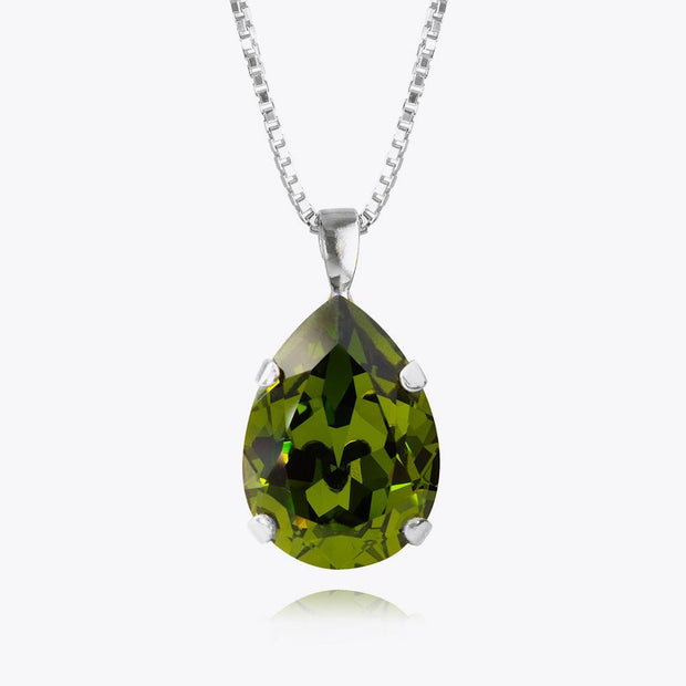 Caroline Svedbom - Classic Drop Necklace Olivine Rhodium