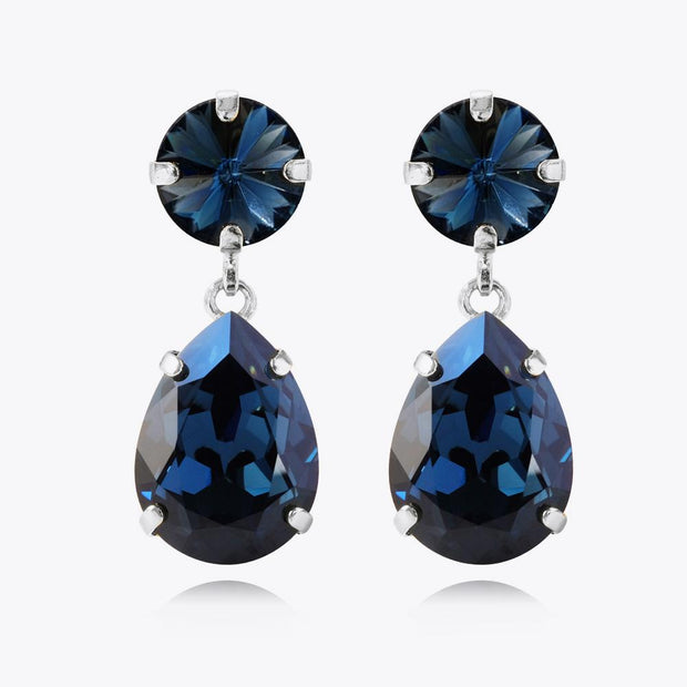 Caroline Svedbom - Classic Drop Earrings Montana Rhodium
