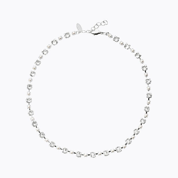 Caroline Svedbom - day Of My Life Necklace Pearl+crystal 001 Rhodium