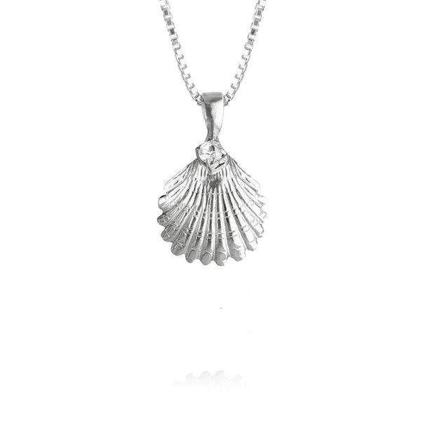 Girls Shell Necklace / Crystal